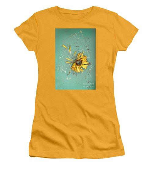 Women's T-Shirt (Junior Cut) featuring the photograph Dead Suflower by Jill Battaglia