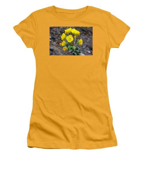 Women's T-Shirt (Junior Cut) featuring the photograph Death Valley Superbloom 306 by Daniel Woodrum