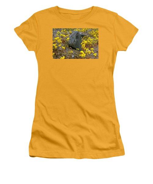Women's T-Shirt (Junior Cut) featuring the photograph Death Valley Superbloom 406 by Daniel Woodrum