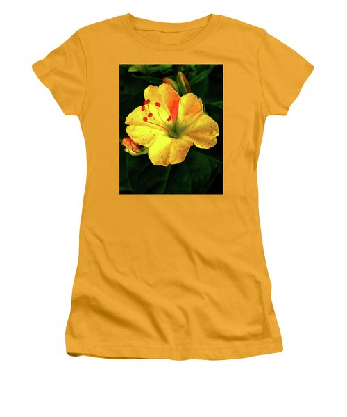 Delicate Yellow Flower Women's T-Shirt (Athletic Fit)