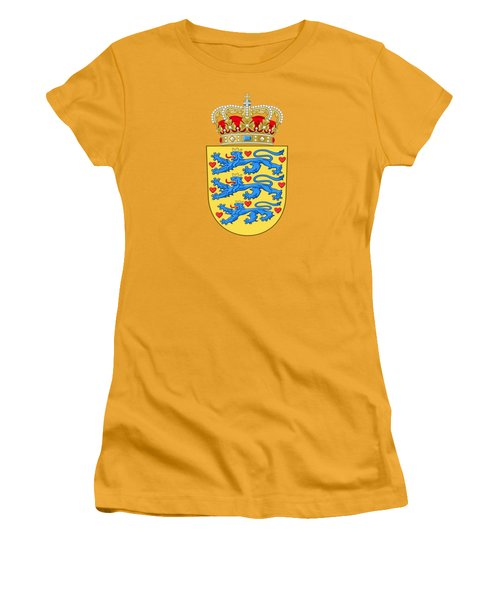 Denmark Coat Of Arms Women's T-Shirt (Junior Cut) by Movie Poster Prints