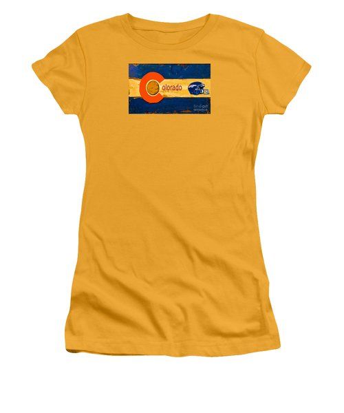 Denver Colorado Broncos 1 Women's T-Shirt (Athletic Fit)