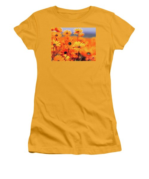 Details In Orange Women's T-Shirt (Athletic Fit)