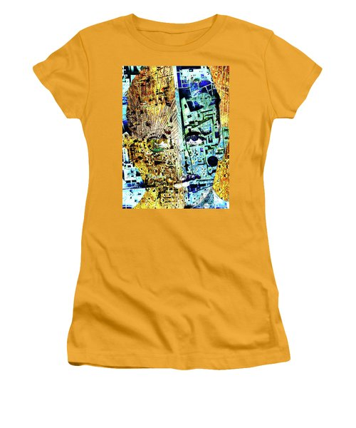 Women's T-Shirt (Junior Cut) featuring the painting Dillinger by Tony Rubino