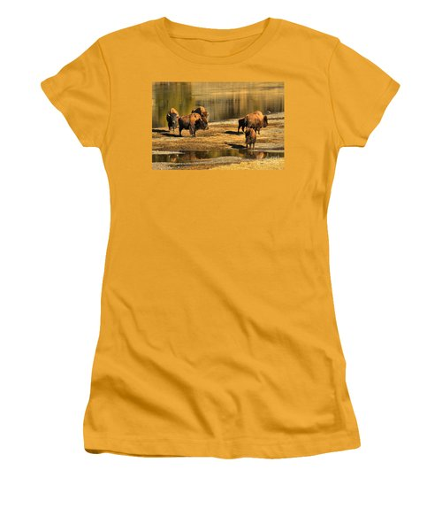Women's T-Shirt (Junior Cut) featuring the photograph Discussing The River Crossing by Adam Jewell