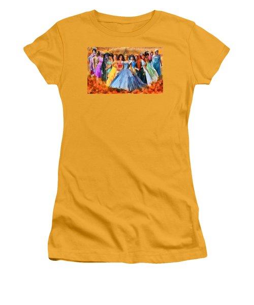 Disney's Princesses Women's T-Shirt (Athletic Fit)