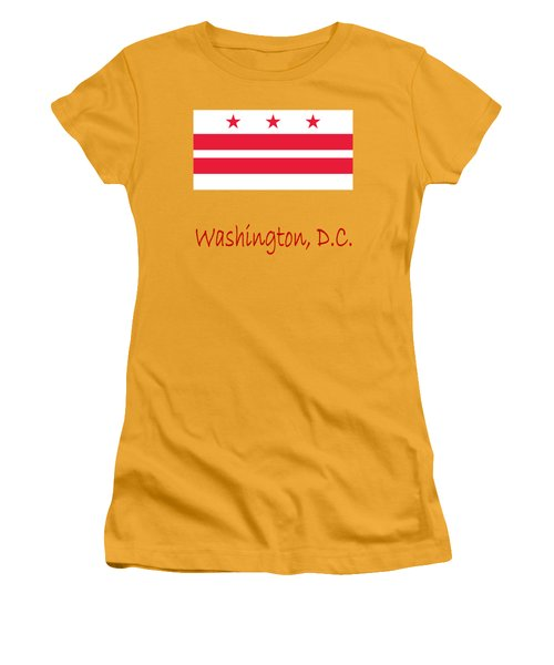 District Of Columbia Flag Women's T-Shirt (Athletic Fit)