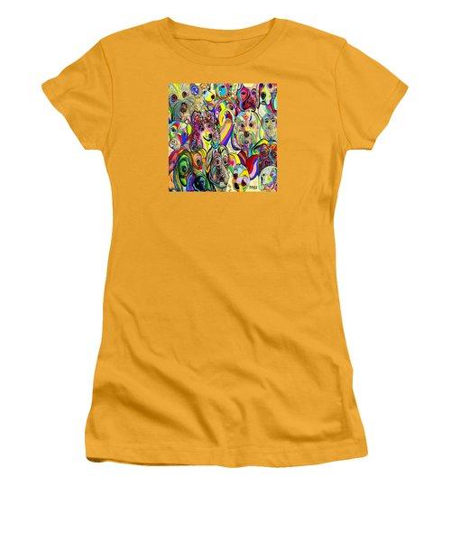 Dogs Dogs Dogs Women's T-Shirt (Junior Cut) by Eloise Schneider