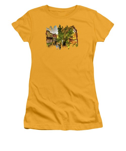 Down By The Creek Women's T-Shirt (Athletic Fit)