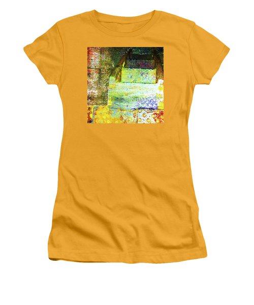 Women's T-Shirt (Junior Cut) featuring the mixed media Down by Tony Rubino