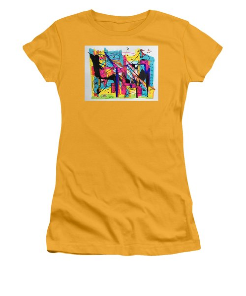 Downtown --where All The Lights Are Bright Women's T-Shirt (Athletic Fit)