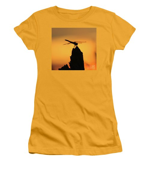 Dragonfly Sunset Women's T-Shirt (Athletic Fit)
