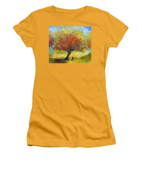 Dreaming Amber Women's T-Shirt (Athletic Fit)