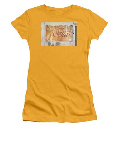 Women's T-Shirt (Junior Cut) featuring the photograph Drink Coca Cola by Mark Greenberg