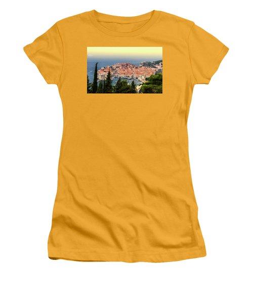 Dubrovnik Old City On The Adriatic Sea, South Dalmatia Region, C Women's T-Shirt (Athletic Fit)