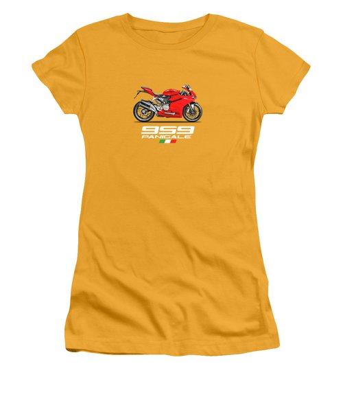 Ducati Panigale 959 Women's T-Shirt (Junior Cut) by Mark Rogan