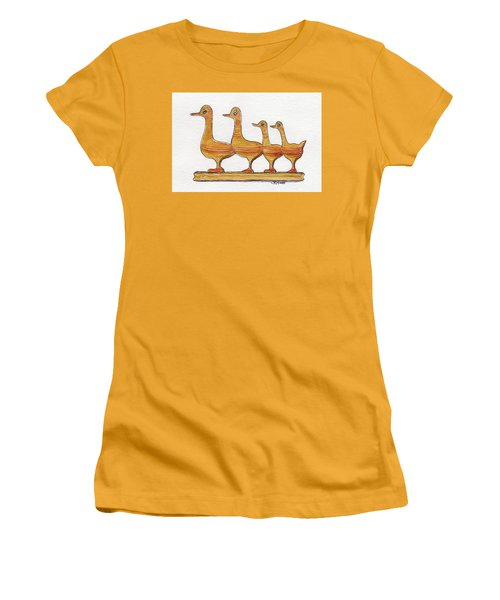 Ducks In A Row Women's T-Shirt (Junior Cut)