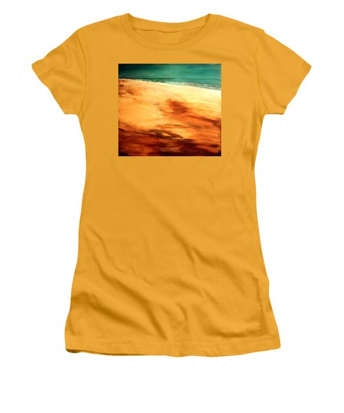 Women's T-Shirt (Junior Cut) featuring the painting Dune Shadows by Winsome Gunning