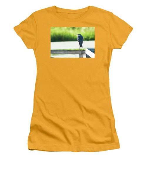 Early Morning Great Blue Heron Women's T-Shirt (Junior Cut) by Edward Peterson