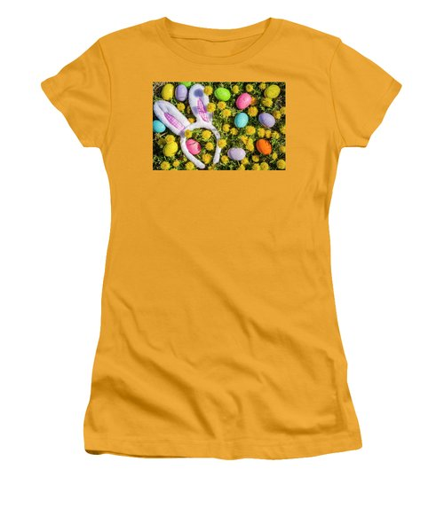 Women's T-Shirt (Junior Cut) featuring the photograph Easter Bunny Ears by Teri Virbickis