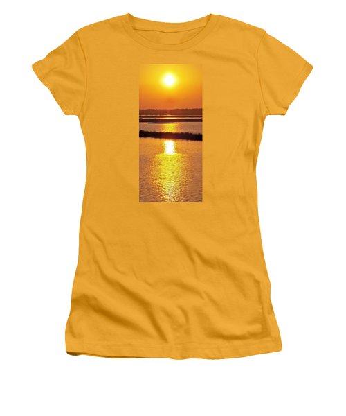 Women's T-Shirt (Junior Cut) featuring the photograph Easter Sunset Southwest Louisiana by John Glass