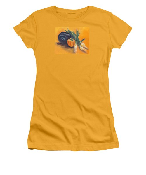 Eat Your Vegetables Women's T-Shirt (Junior Cut) by Shawna Rowe