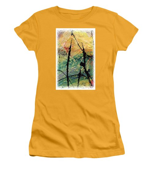 Women's T-Shirt (Junior Cut) featuring the painting Ecstasy II by Angela L Walker