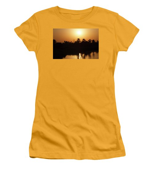 Women's T-Shirt (Athletic Fit) featuring the photograph Egyptian Sunset by Silvia Bruno