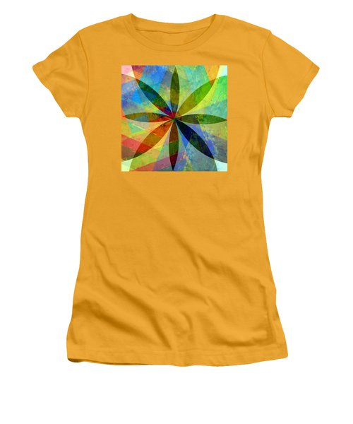 Women's T-Shirt (Athletic Fit) featuring the painting Eight Petals by Michelle Calkins