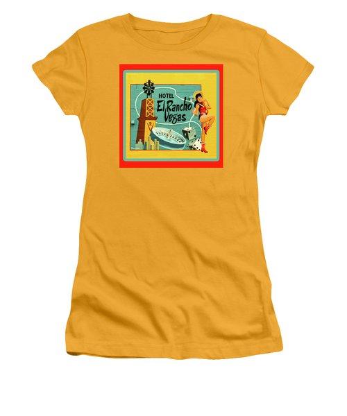 Women's T-Shirt (Junior Cut) featuring the photograph El Rancho by Jeff Burgess