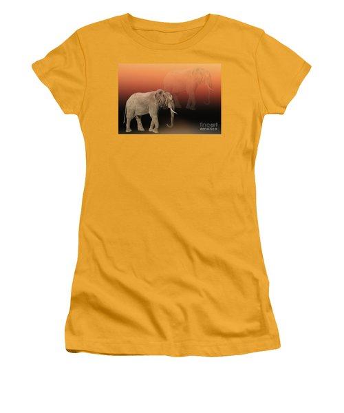 Women's T-Shirt (Junior Cut) featuring the photograph Elephant Dreams by Myrna Bradshaw