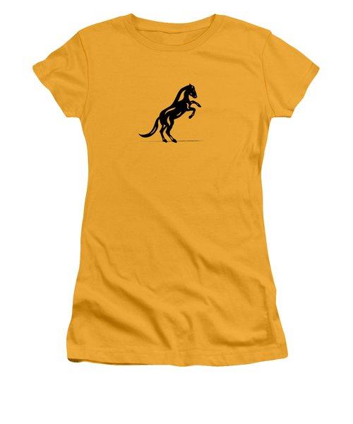 Emma II - Abstract Horse Women's T-Shirt (Junior Cut) by Manuel Sueess