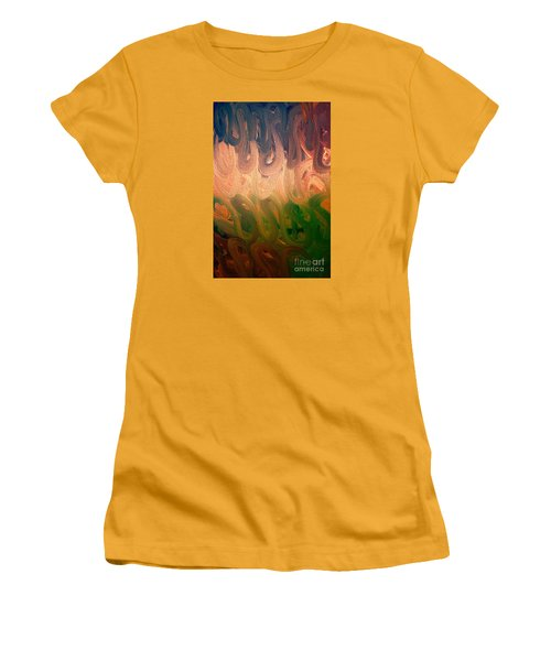 Emotion Acrylic Abstract Women's T-Shirt (Athletic Fit)