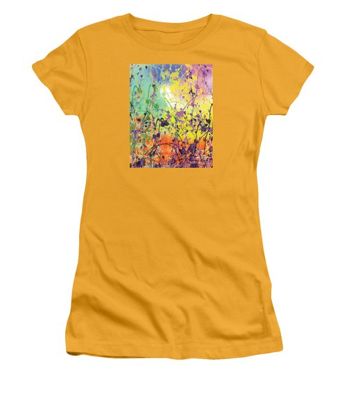 Women's T-Shirt (Junior Cut) featuring the digital art End Of Summer 2015 by Trilby Cole
