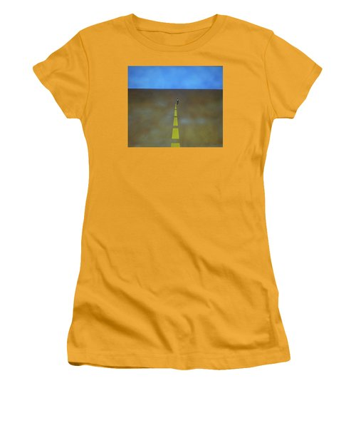 Women's T-Shirt (Junior Cut) featuring the painting End Of The Line by Thomas Blood