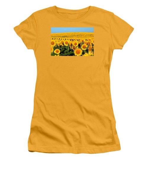 Endless Sunflowers Women's T-Shirt (Junior Cut)