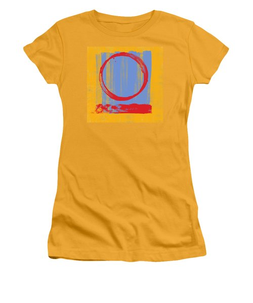 Women's T-Shirt (Junior Cut) featuring the painting Enso by Julie Niemela