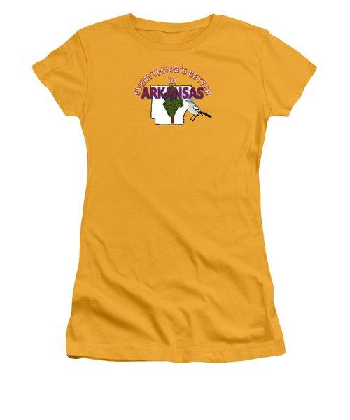 Everything's Better In Arkansas Women's T-Shirt (Junior Cut) by Pharris Art
