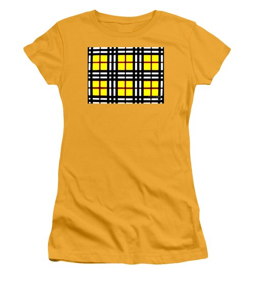 Expanding Plaid Women's T-Shirt (Athletic Fit)