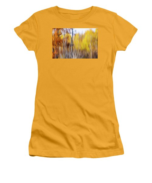 Women's T-Shirt (Junior Cut) featuring the photograph Fall Abstract by Mircea Costina Photography