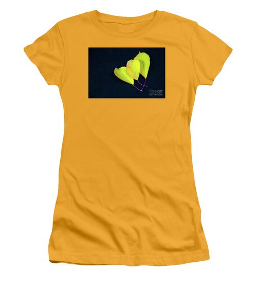 Women's T-Shirt (Athletic Fit) featuring the photograph Fall Season Colors by Kennerth and Birgitta Kullman