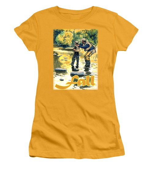 Fall Shirt Women's T-Shirt (Athletic Fit)