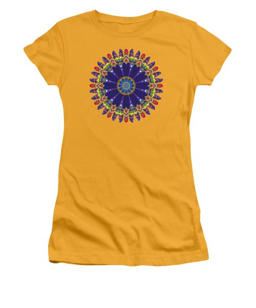 Feathers In The Round Women's T-Shirt (Junior Cut) by Mary Machare