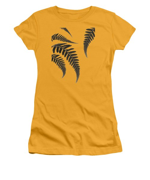 Fern Leaves Women's T-Shirt (Athletic Fit)