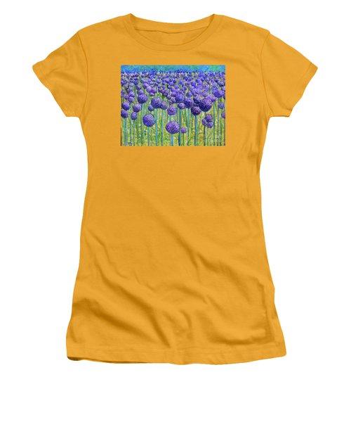 Field Of Allium Women's T-Shirt (Athletic Fit)