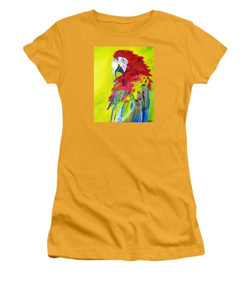 Fiery Feathers Women's T-Shirt (Junior Cut) by Meryl Goudey