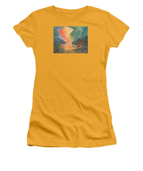 Fire In The Sky 2 Women's T-Shirt (Athletic Fit)