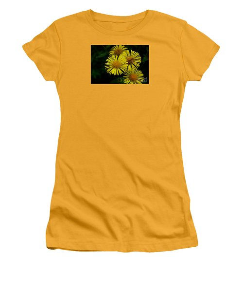 Fireworks In Yellow Women's T-Shirt (Junior Cut) by John S