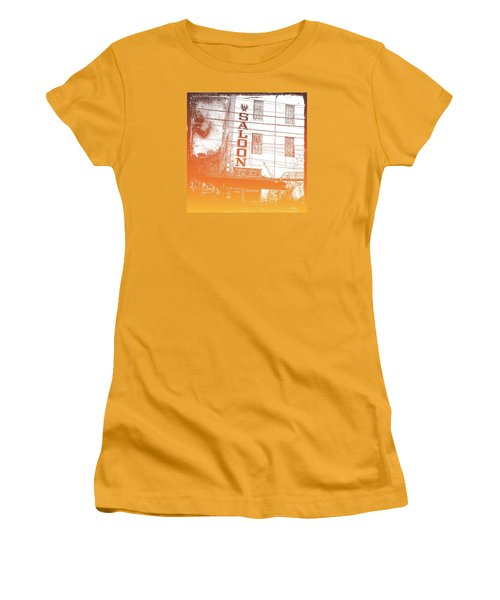 Women's T-Shirt (Junior Cut) featuring the photograph First Bar In Texas For A Woman by Carolina Liechtenstein