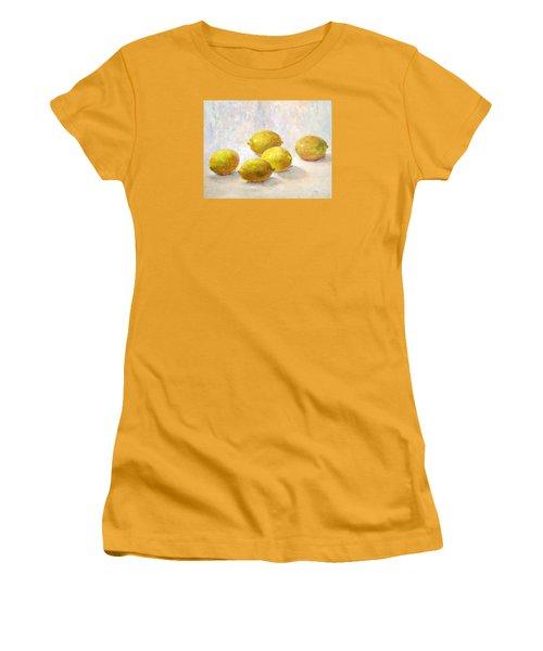 Five Lemons Women's T-Shirt (Junior Cut) by Jill Musser